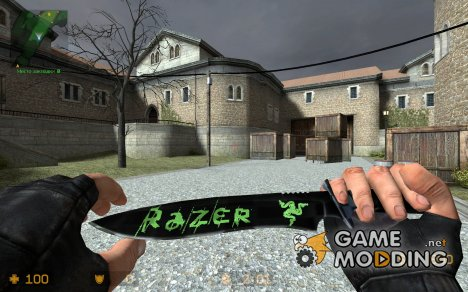 Razer Knife + Custom 1.5-ish Anims для Counter-Strike Source
