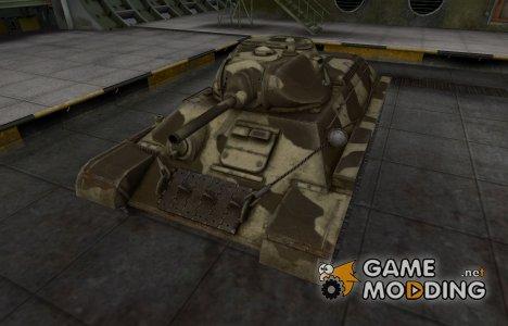 Пустынный скин для T-34 for World of Tanks