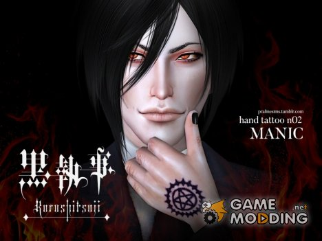 Hand Tattoo MANIC - Black Butler для Sims 4