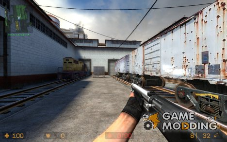 Black and silver M3 + Jens anims for Counter-Strike Source