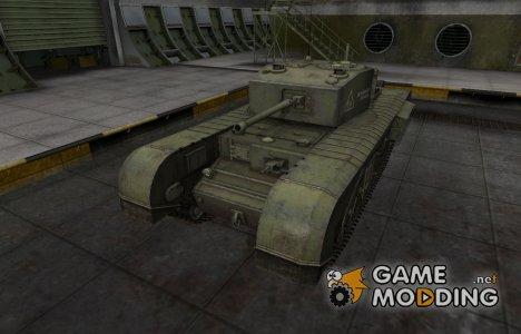 Скин с надписью для Черчилль III для World of Tanks