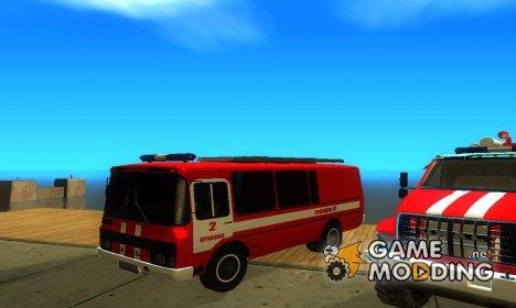 ПАЗ-3205 Пожарная Охрана for GTA San Andreas