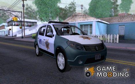 Renault Sandero Police LV для GTA San Andreas