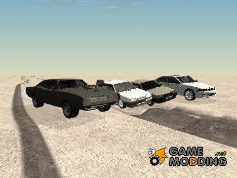 Пак авто и скинов для GTA San Andreas