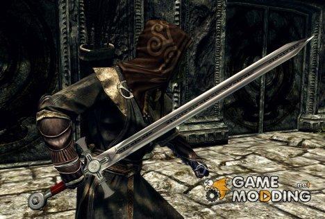 Изящный меч Тамплиеров для TES V Skyrim