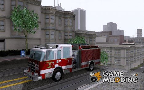 Pierce Pumpers. San Francisco Fire Departament E для GTA San Andreas