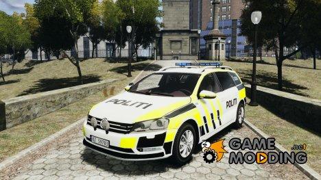 Volkswagen Passat - Norwegian Police Edition 2012 for GTA 4