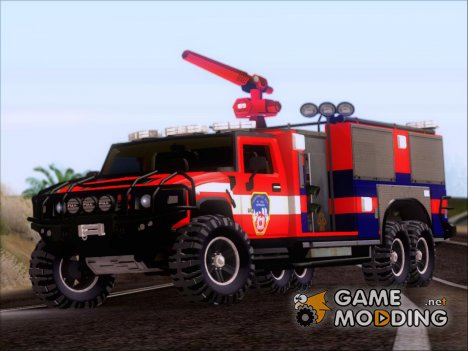 Hummer H2 Firetruck Fire Department City of Los Sanos для GTA San Andreas