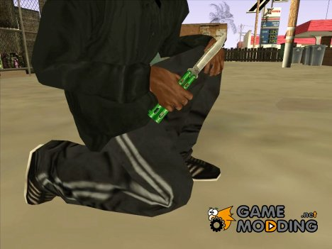 Butterfly Knife (Green) для GTA San Andreas