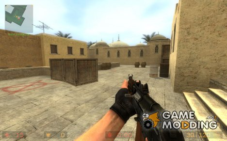 TheLama AKS-74U on Remus! anims for Counter-Strike Source