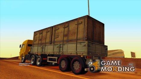 Прицеп с коробками для Камаза 54115 для GTA San Andreas