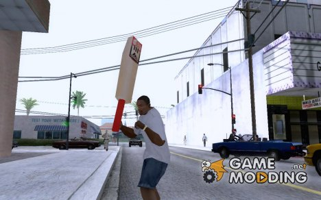 Adidas Cricket Bat для GTA San Andreas