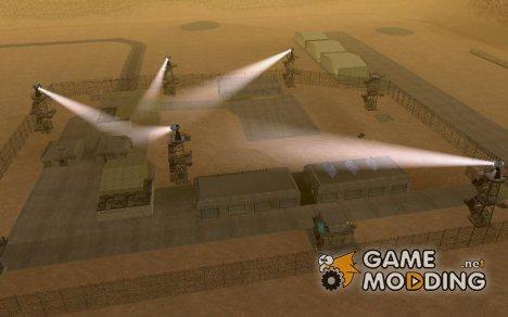 Прожекторы на военной базе for GTA San Andreas