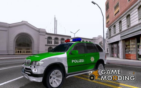 BMW X5 Deutsche Polizei for GTA San Andreas