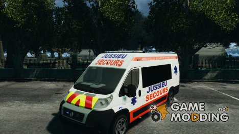 Ambulance Jussieu Secours Fiat 2012 для GTA 4