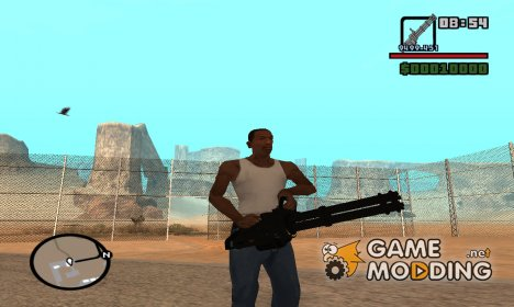 Minigun from GTA V PC for GTA San Andreas