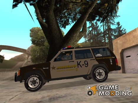 RCSD Red County Sheriff Department Jeep Cherokee 1992 for GTA San Andreas
