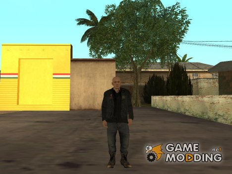 Байкер Hells Angels для GTA San Andreas