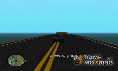 Вывод координат персонажа на экран for GTA San Andreas
