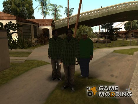 Skin Pack Fam by V@do$ для GTA San Andreas