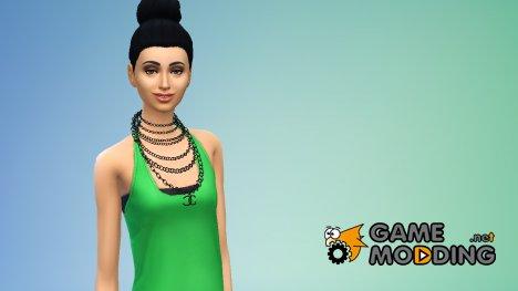 Ожерелье Chanel для Sims 4