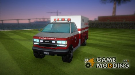 Ambulance from GTA IV для GTA Vice City