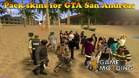Пак скинов фракций для GTA San Andreas