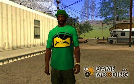 Новая зелёная футболка для GTA San Andreas