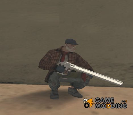 Длинный серебряный Desert Eagle для GTA San Andreas