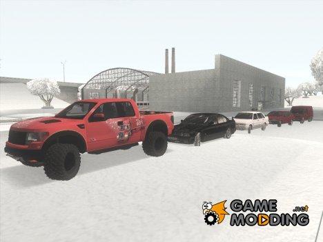 Пак зимних авто и скинов for GTA San Andreas