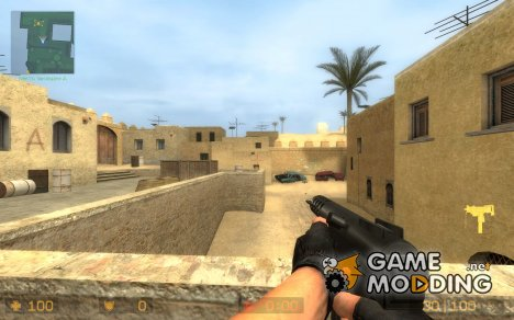 Tec-9 for Mac10 + AntiPirates animations для Counter-Strike Source