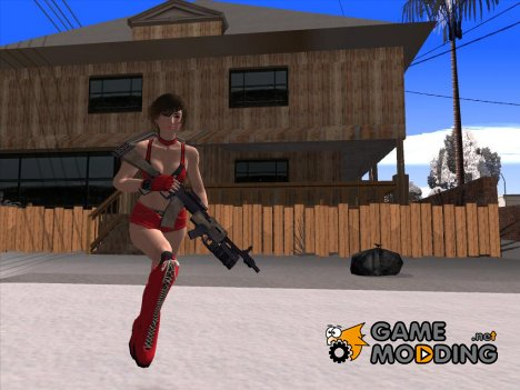 Skin HD Reiko (Rumble Roses XX) for GTA San Andreas
