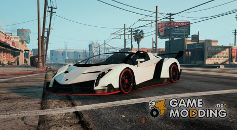 2014 Lamborghini Veneno Roadster (Digitaldials) for GTA 5
