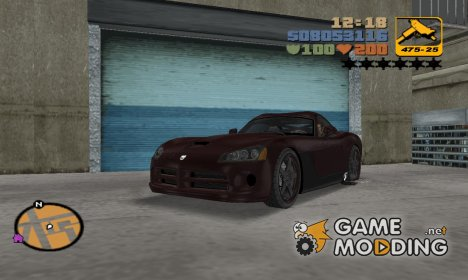 Dodge Viper SRT-10 Carbon Custom для GTA 3