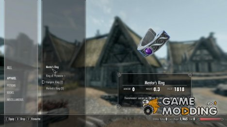 Rings of Old - Morrowind Artifacts for Skyrim for TES V Skyrim