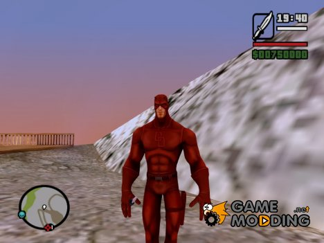 Daredevil Red Costume Skin для GTA San Andreas