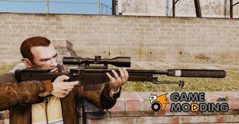 Снайперская винтовка AW L115A1 с глушителем v4 for GTA 4