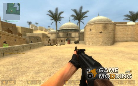 Twinke Masta AK-74 on Mr. Brightside's AK-47 anims для Counter-Strike Source