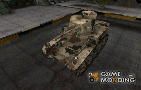 Камуфлированный скин для M3 Stuart for World of Tanks