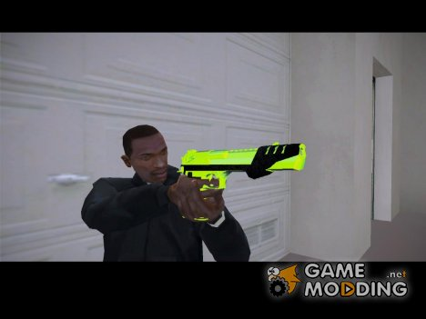 Desert Eagle chrome green для GTA San Andreas