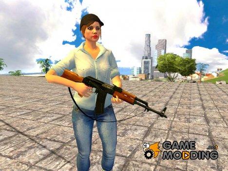 AK-47 с ремешком for GTA San Andreas
