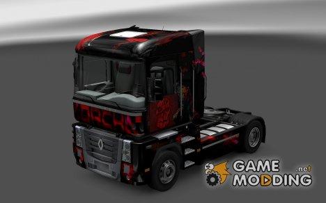 Скин Vorcha для Renault Magnum для Euro Truck Simulator 2