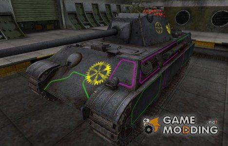 Контурные зоны пробития Panther II for World of Tanks