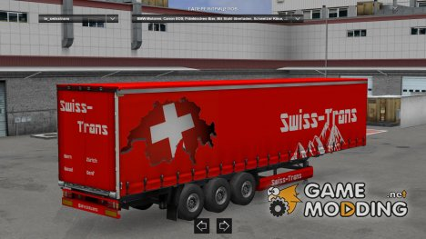 Swiss-Trans Trailer for Euro Truck Simulator 2