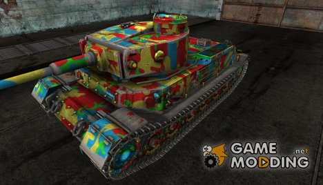 "Шкурка для PzKpfw VI Tiger (P) ""Circus Tiger"" for World of Tanks"