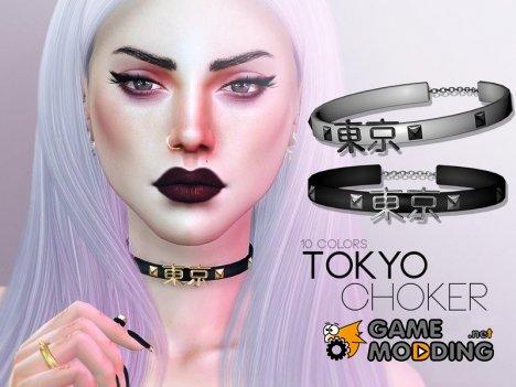 Чокер Tokyo for Sims 4