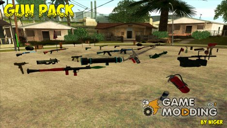 Пак разноцветного оружия for GTA San Andreas