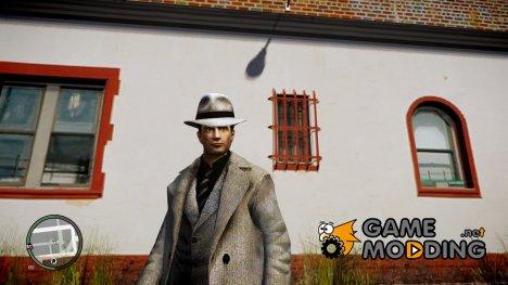 Вито из Mafia II в повседневном костюме и плаще для GTA 4