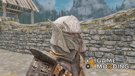 Snow Elf Helmet Open Male Humans or Elves for TES V Skyrim