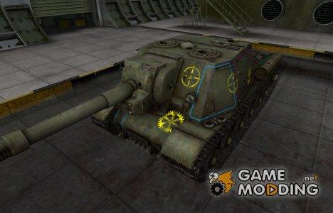 Контурные зоны пробития ИСУ-152 для World of Tanks